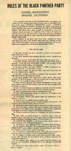 RULES OF THE BLACK PANTHER PARTY